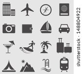 vacation and travel icons | Shutterstock .eps vector #148804922