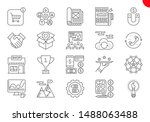 seo line icons set. seo related ... | Shutterstock . vector #1488063488