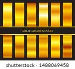 set of gold metallic gradients...   Shutterstock .eps vector #1488069458