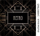 art deco geometric pattern ... | Shutterstock .eps vector #148807865