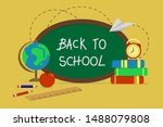 back to school.  colorful...   Shutterstock .eps vector #1488079808