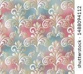 Stock vector damask seamless pattern for design vector illustration 1488094112