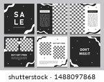 set of editable square banner... | Shutterstock .eps vector #1488097868