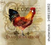 Rooster Vintage Poster....
