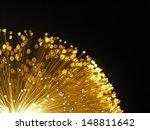 yellow fibre optic light on...   Shutterstock . vector #148811642