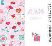 wedding   flat design style... | Shutterstock .eps vector #1488117725