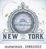 premium quality card. baroque... | Shutterstock .eps vector #148814315