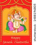vector design of indian lord... | Shutterstock .eps vector #1488196805