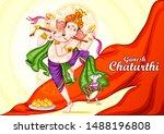 vector design of indian lord... | Shutterstock .eps vector #1488196808