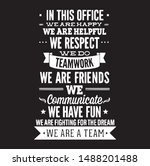 in this office we are happy we...   Shutterstock .eps vector #1488201488