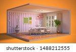 interior dining area. 3d...   Shutterstock . vector #1488212555