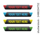 banner set  text box  title box ... | Shutterstock .eps vector #1488234752