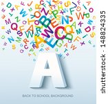 back to school. conceptual... | Shutterstock .eps vector #148824335