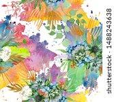 bouquet floral botanical...   Shutterstock . vector #1488243638