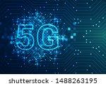 5g network internet concept...   Shutterstock .eps vector #1488263195