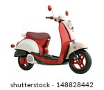 Modern Classic Scooter Isolated ...