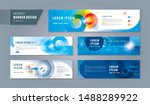 abstract banner design web... | Shutterstock .eps vector #1488289922