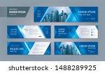 abstract banner design web... | Shutterstock .eps vector #1488289925