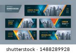 abstract banner design web... | Shutterstock .eps vector #1488289928
