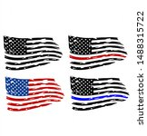 distressed american flag ... | Shutterstock .eps vector #1488315722