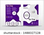 brochure template design  with... | Shutterstock .eps vector #1488327128