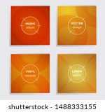 vintage vinyl records music... | Shutterstock .eps vector #1488333155