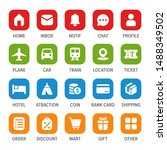 mobile web app icon set vector...