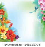 background from tropical... | Shutterstock .eps vector #148836776