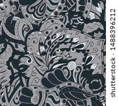 tracery seamless pattern.... | Shutterstock .eps vector #1488396212