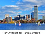 Stock photo boston massachusetts skyline at back bay district 148839896
