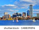 Stock photo boston massachusetts skyline at back bay district 148839896