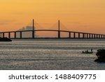 Tampa Bay  Florida And Bridge...