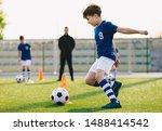Children Training Football...