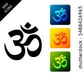 om or aum indian sacred sound... | Shutterstock .eps vector #1488426965