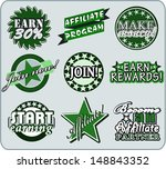 vector set of affiliate... | Shutterstock .eps vector #148843352