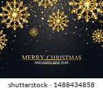 christmas background with... | Shutterstock .eps vector #1488434858