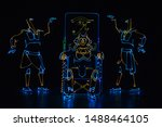 mans in costume of the egyptian ... | Shutterstock . vector #1488464105