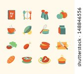 food icons | Shutterstock .eps vector #148846556