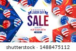 labor day sale promotion... | Shutterstock .eps vector #1488475112