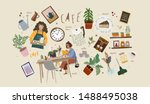 cafe. vector illustrations and... | Shutterstock .eps vector #1488495038