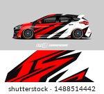 car wrap design concept.... | Shutterstock .eps vector #1488514442