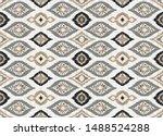 ikat geometric folklore... | Shutterstock .eps vector #1488524288