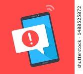 alert  mobile phone...   Shutterstock .eps vector #1488525872