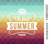 vintage fashion the best summer ... | Shutterstock .eps vector #148853402