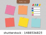 set of different note papers... | Shutterstock .eps vector #1488536825