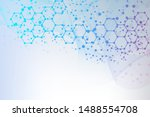 science network pattern ... | Shutterstock .eps vector #1488554708