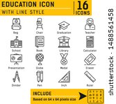 education icon with line style. ...