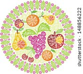 fruit vector illustration | Shutterstock .eps vector #148856222