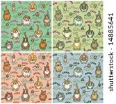 Cute Cats And Critters Seamles...