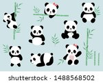 Collection Of Panda Object Set...
